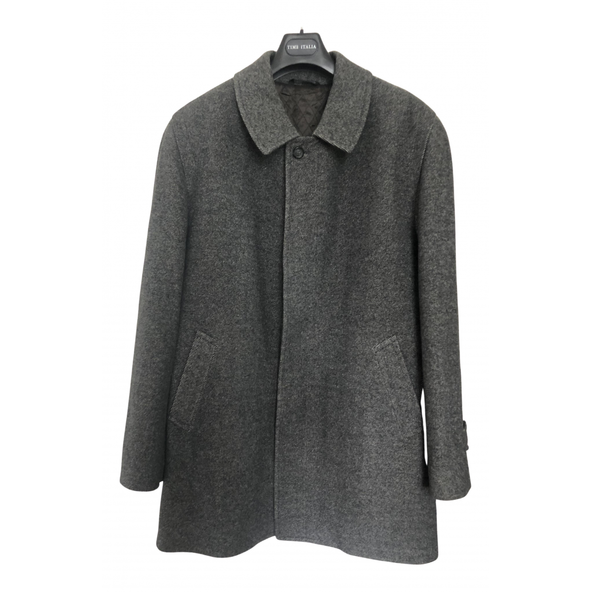 Non Signé / Unsigned N Grey Wool coat  for Men 56 IT