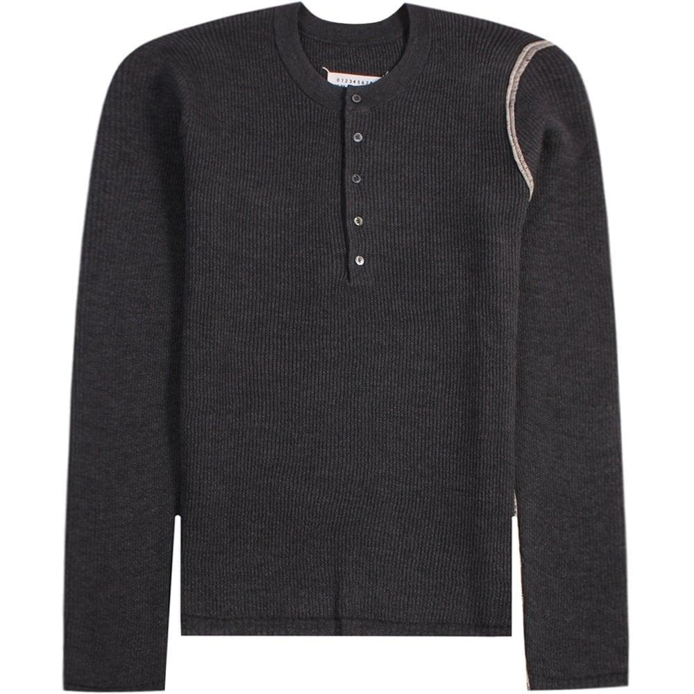 Maison Margiela Classic Elbow Knit Sweater Colour: GREY, Size: LARGE