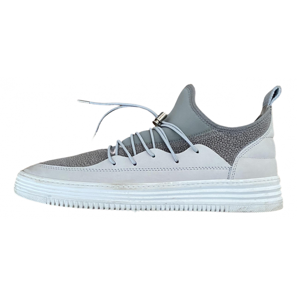 Filling Pieces \N Sneakers in  Grau Leder