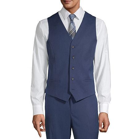 JF J.Ferrar Mens Regular Fit Suit Vest - Big and Tall, 4x-large , Blue