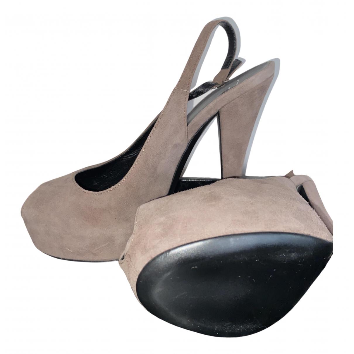 Giuseppe Zanotti \N Brown Cloth Heels for Women 38 EU