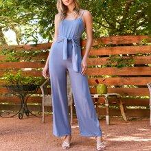 Cami Jumpsuit mit Band vorn und breitem Beinschnitt