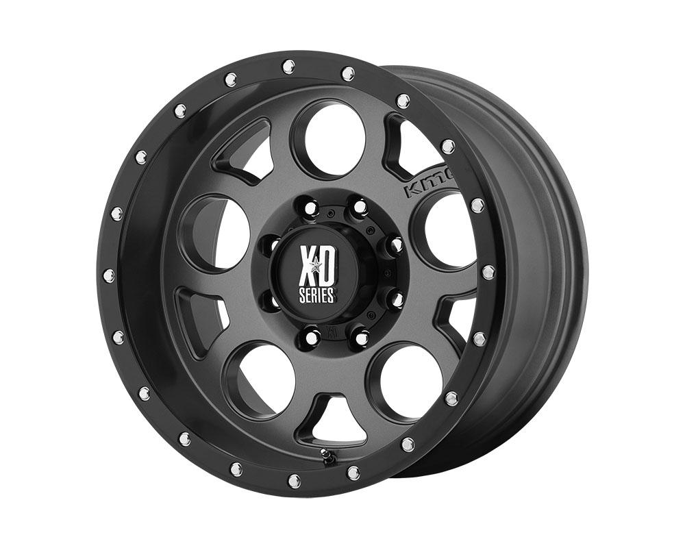 XD Series XD12629068418 XD126 Enduro Pro Wheel 20x9 6x6x139.7 +18mm Matte Gray W Black Reinforcing Ring