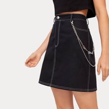 Solid Skirt Without Chain