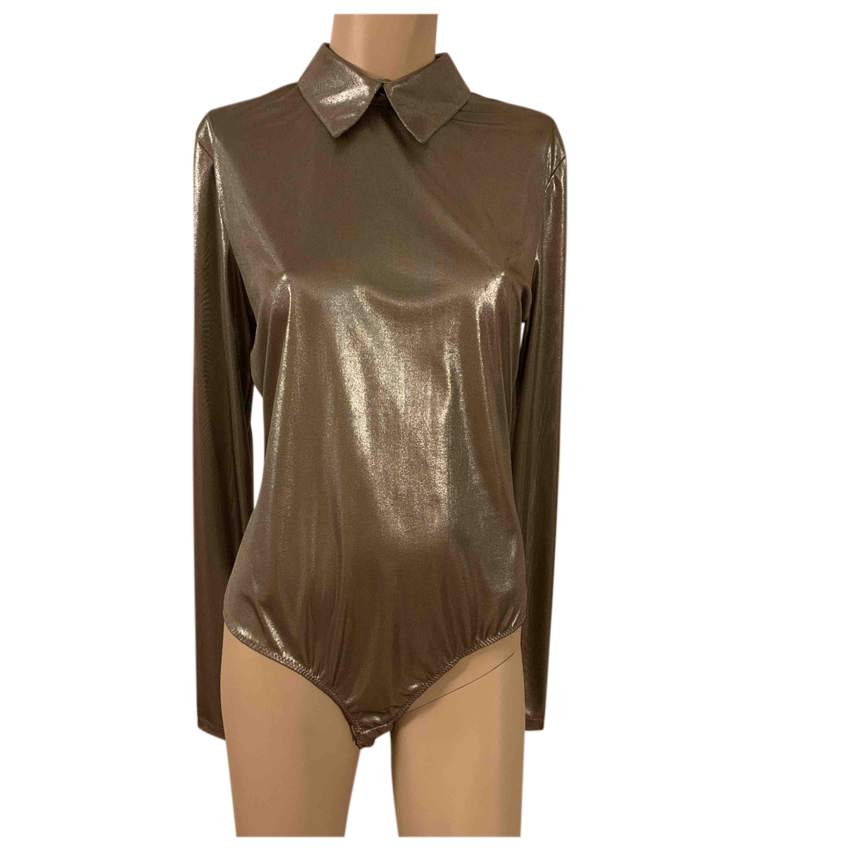Versace - Top   pour femme - metallise
