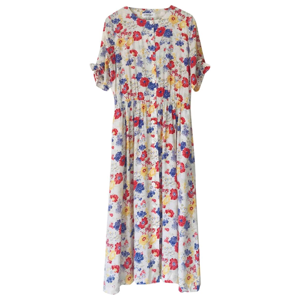 Non Signé / Unsigned \N Multicolour Silk dress for Women 14 UK