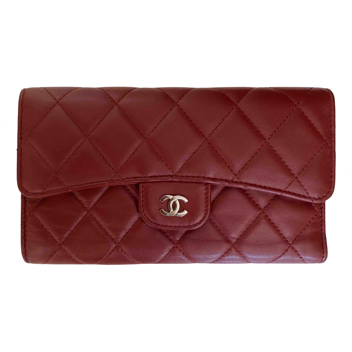 Chanel Timeless/Classique Red Leather wallet for Women \N