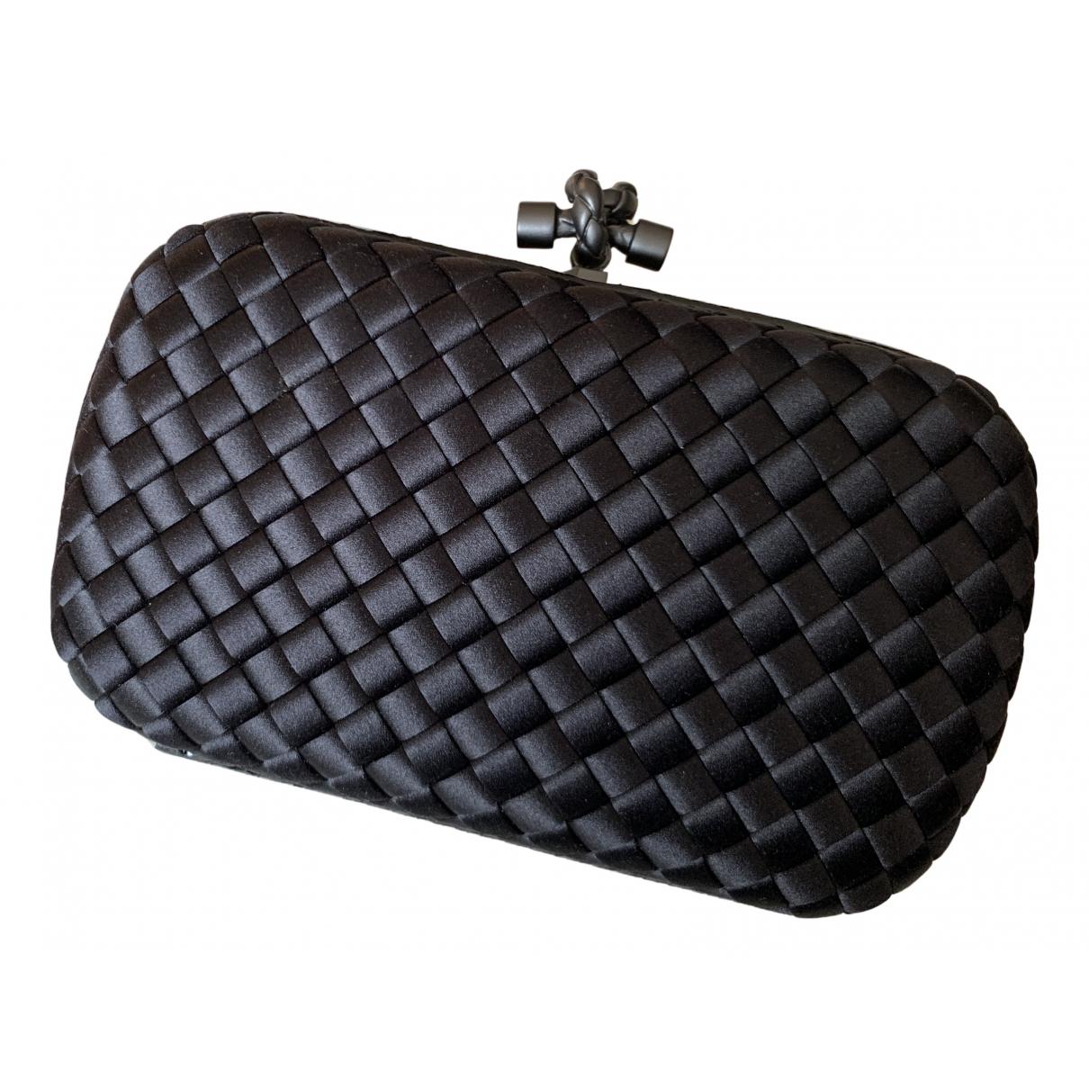 Bottega Veneta - Pochette Pochette Knot pour femme en soie - noir