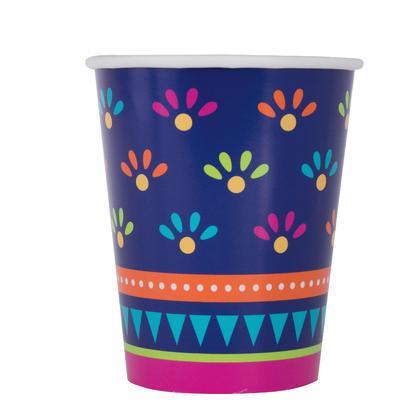 Boho Fiesta 9oz Paper Cups, 8ct