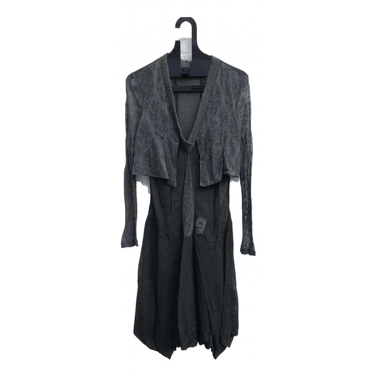 Masnada \N Kleid in  Schwarz Viskose