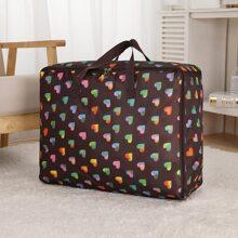 Heart Print Quilt Storage Bag