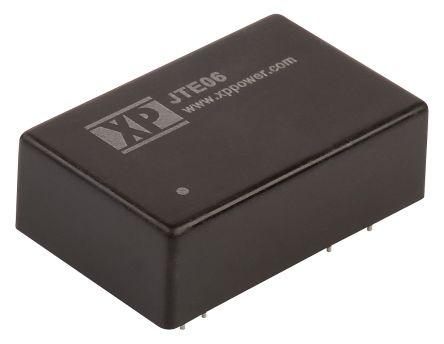 XP Power JTE 6W Isolated DC-DC Converter Through Hole, Voltage in 9 → 36 V dc, Voltage out 24V dc