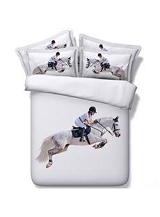 Chic 3D Horse Riding Print 5-Piece Comforter Sets