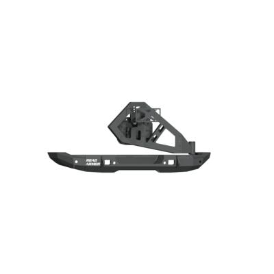 Road Armor Stealth Full Width Rear Bumper with Tire Carrier (Black) - 5183R1B-TC