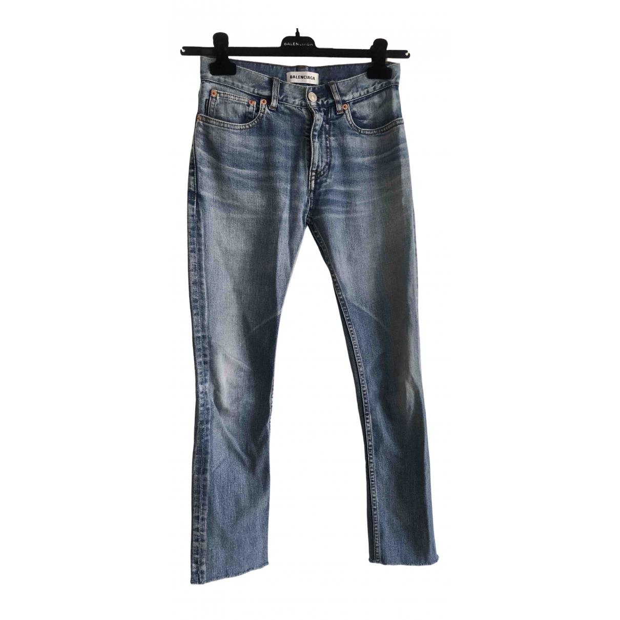 Balenciaga - Pantalon   pour femme en denim - bleu
