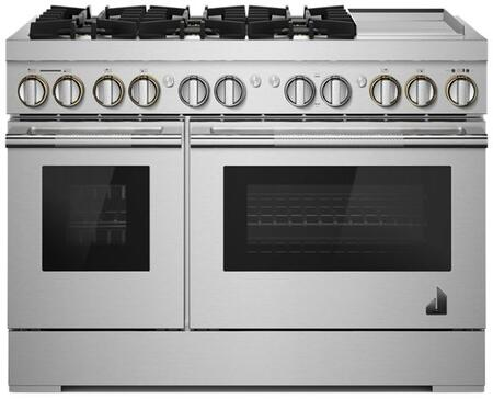 JDSP548HL RISE 48 Dual Fuel Professional Range with 4 Burners  Griddle  Steam Assist in Stainless