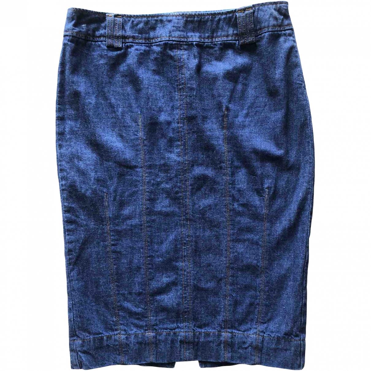 Max & Co \N Blue Denim - Jeans skirt for Women 42 IT