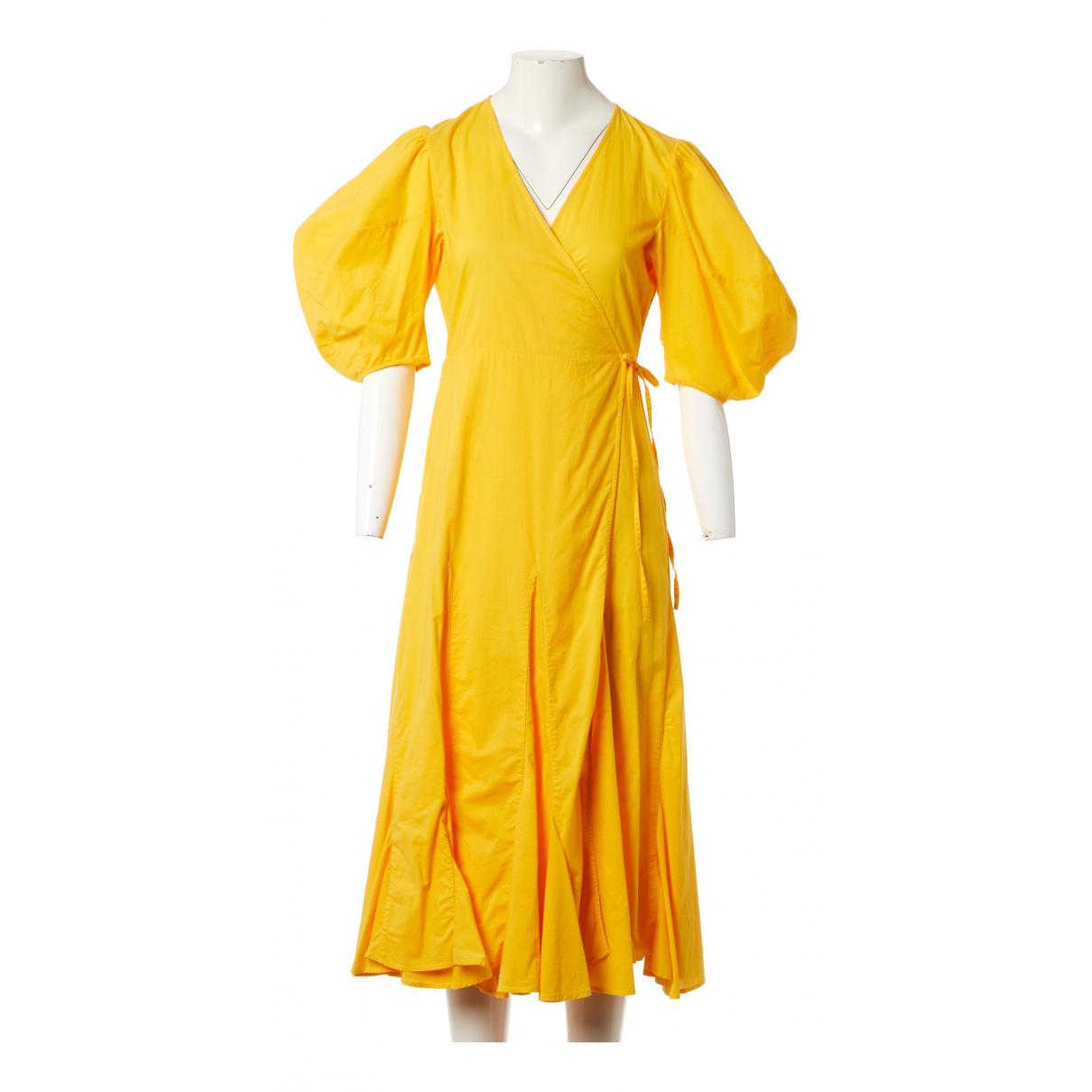 Rhode Resort \N Kleid in  Gelb Baumwolle