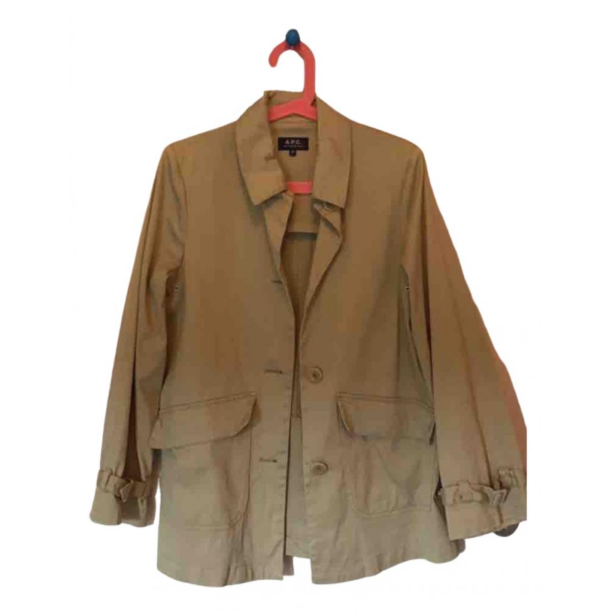 Apc \N Beige Cotton jacket for Women XS International