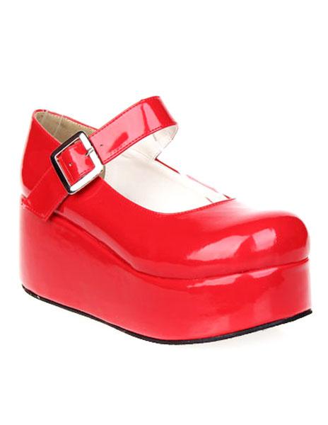 Milanoo Zapatos Dulce Lolita Alta Plataforma Zapatos Tirantes de Tobillo Hebilla