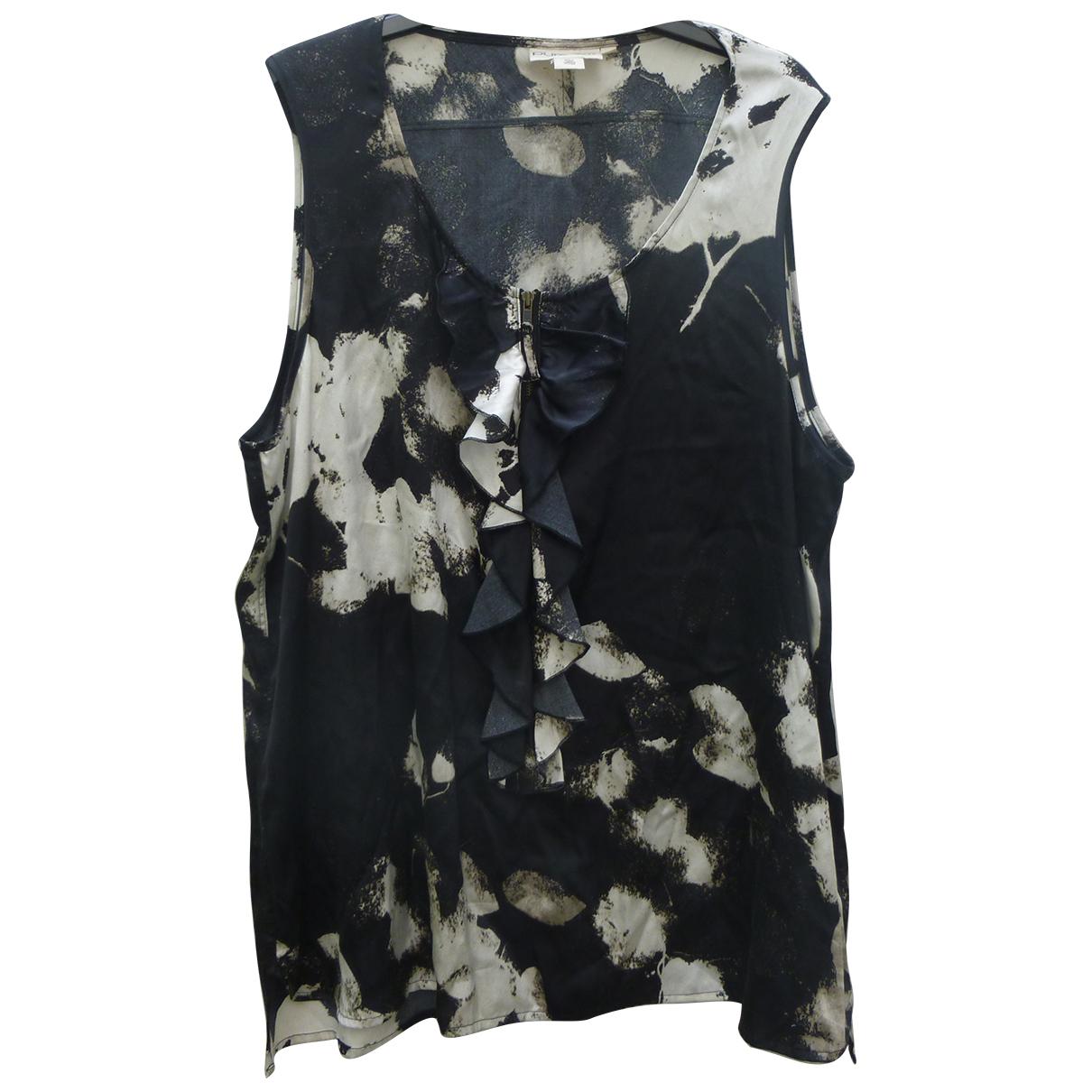 Dkny N Black Silk  top for Women L International