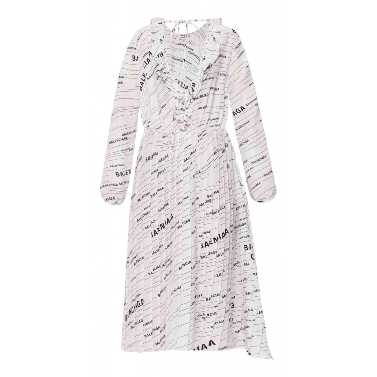 Balenciaga N White Silk dress for Women 44 FR