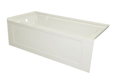 OVO6032SKDFLBIS 60 OVO Biscuit Acrylic  Bathtub with Decorative Integral Skirt and Double Flange 60X32 Left Hand