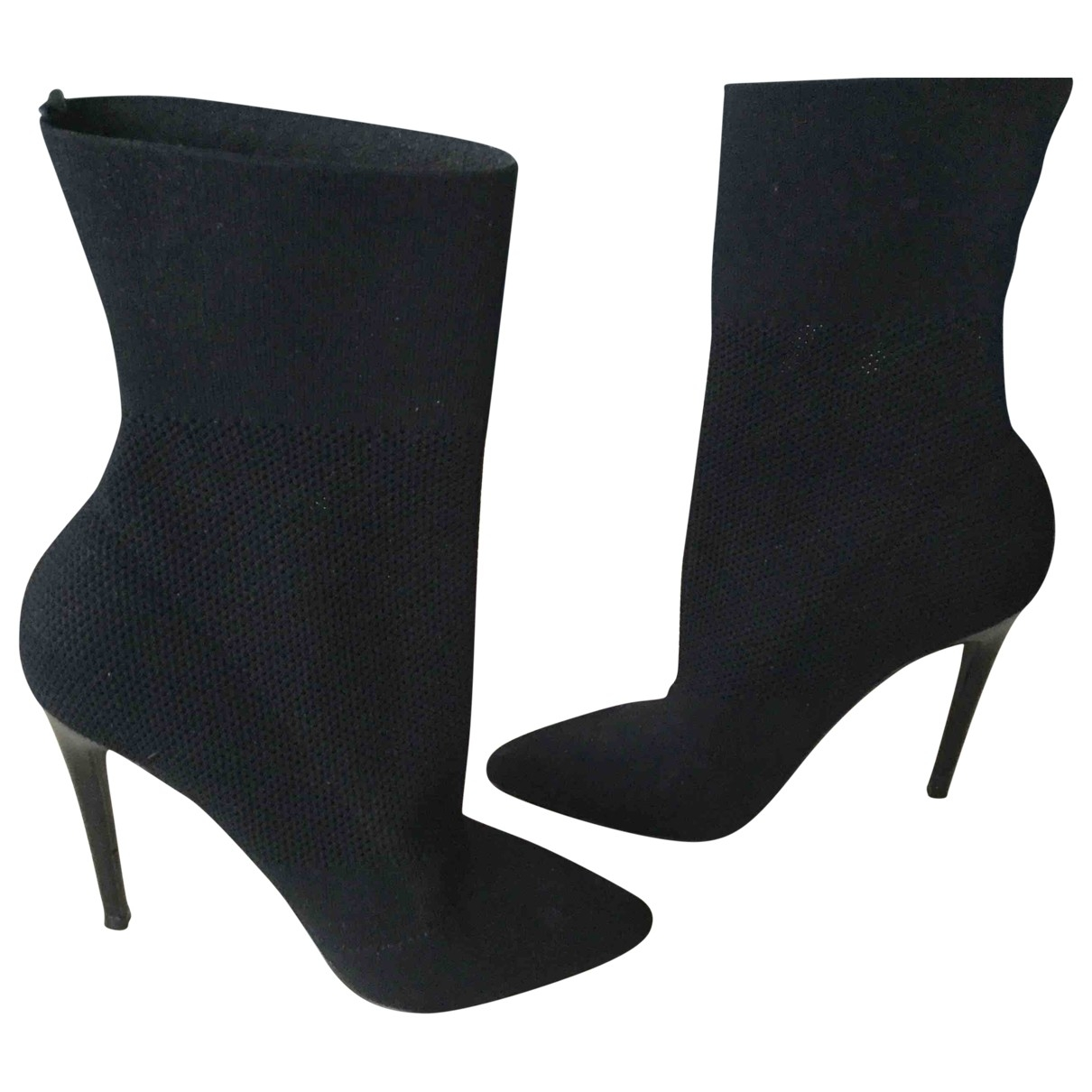 Non Signé / Unsigned \N Black Boots for Women 38.5 EU