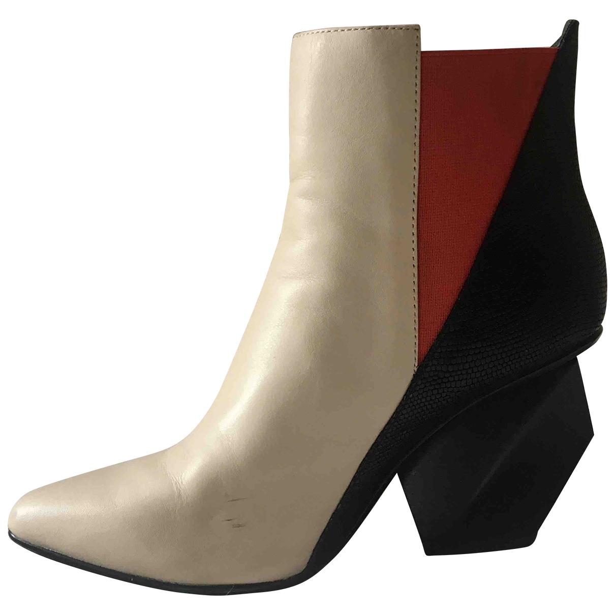 Helmut Lang - Boots   pour femme en cuir - multicolore