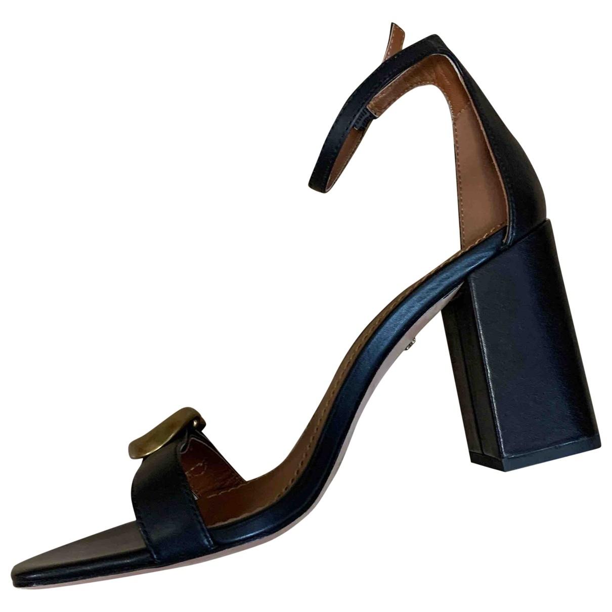 Coach - Sandales   pour femme en cuir - noir