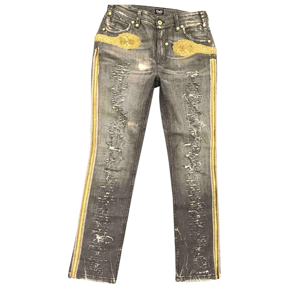D&g \N Grey Denim - Jeans Jeans for Women 28 US