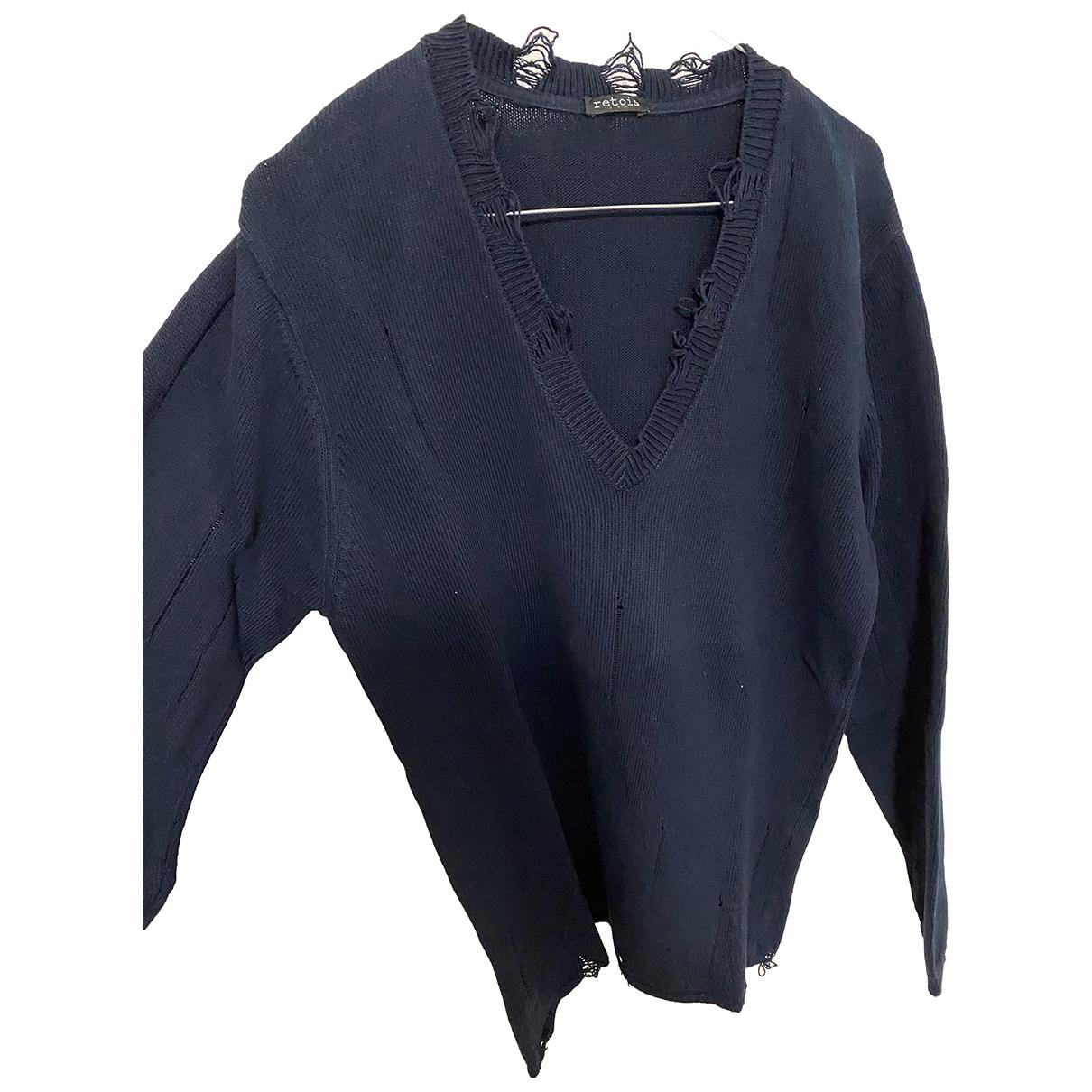 C.b. Made In Italy \N Pullover.Westen.Sweatshirts  in  Blau Baumwolle