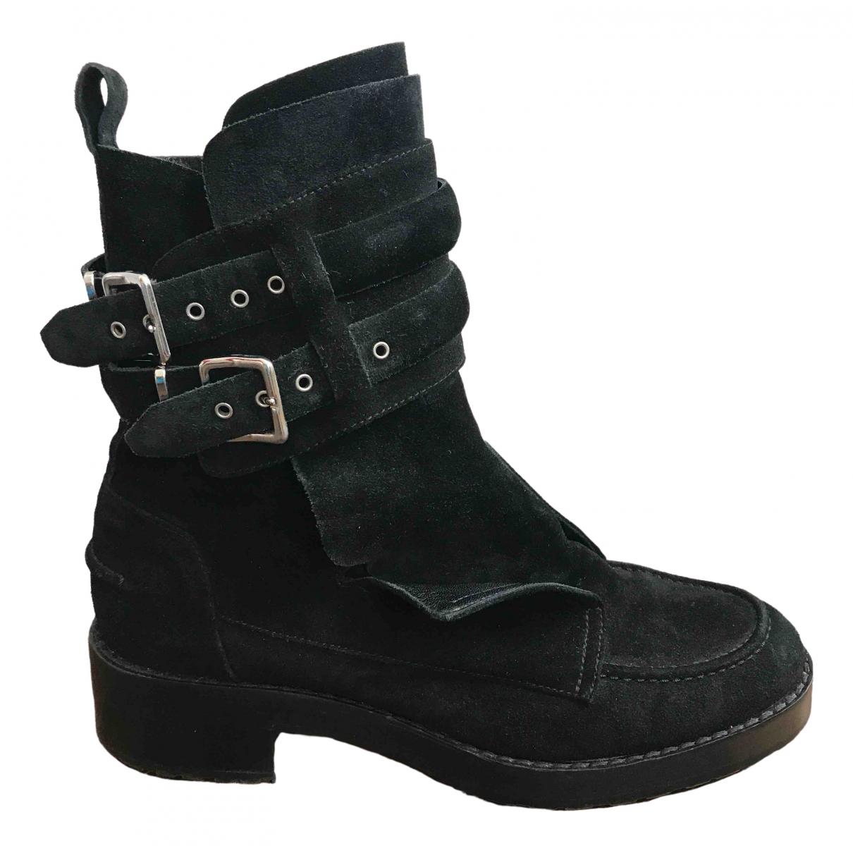 Balenciaga - Boots   pour femme en suede - noir