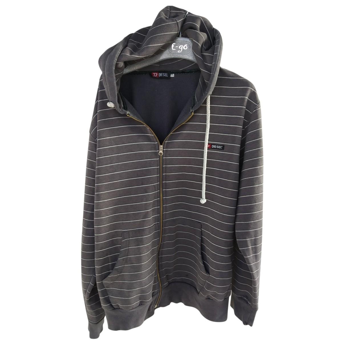 Diesel \N Pullover.Westen.Sweatshirts  in  Grau Baumwolle