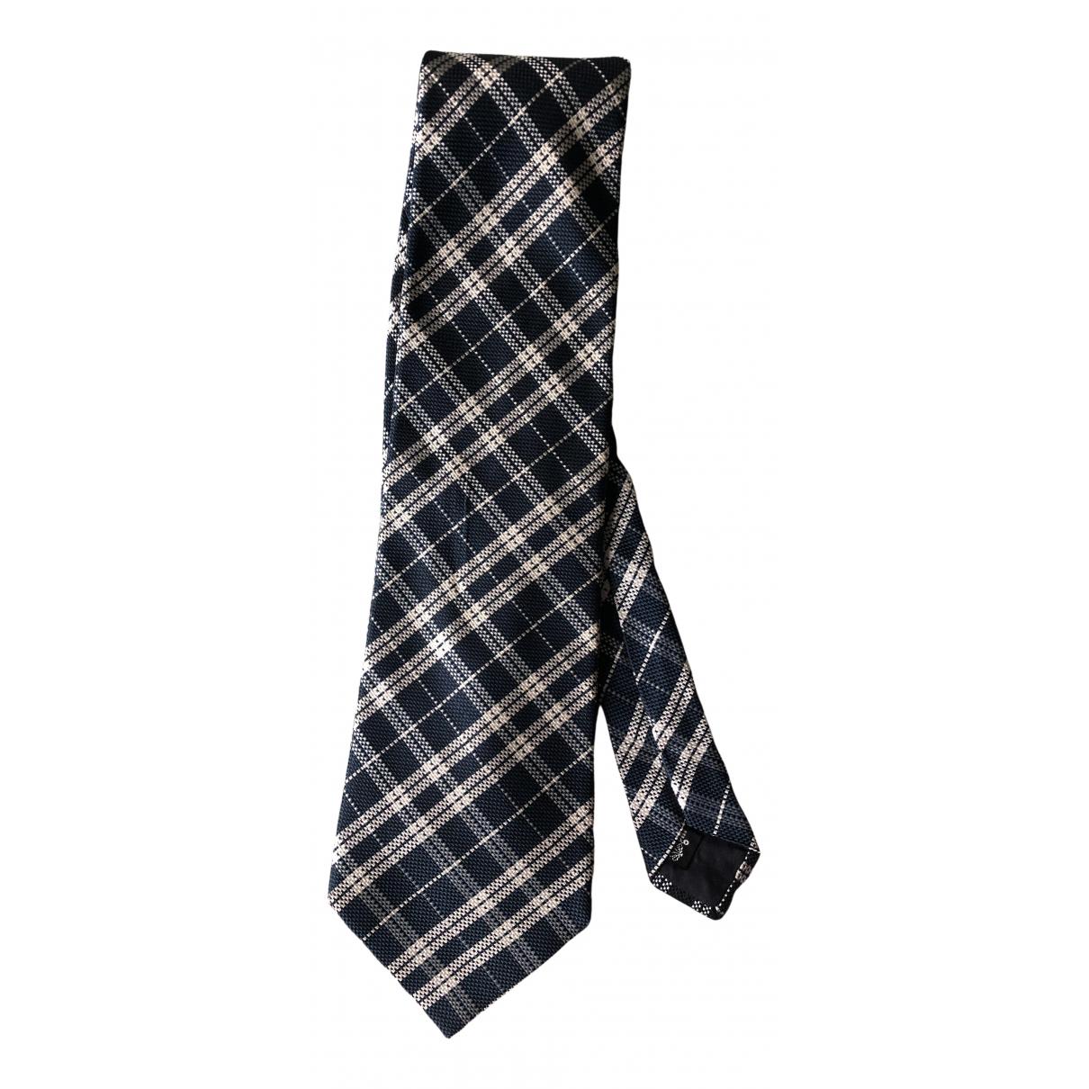 Trussardi \N Krawatten in  Blau Seide