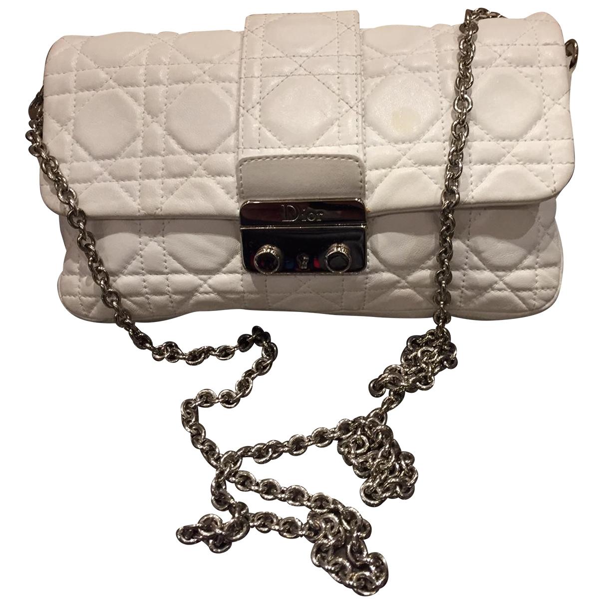 Dior - Sac a main Miss Dior pour femme en cuir - blanc