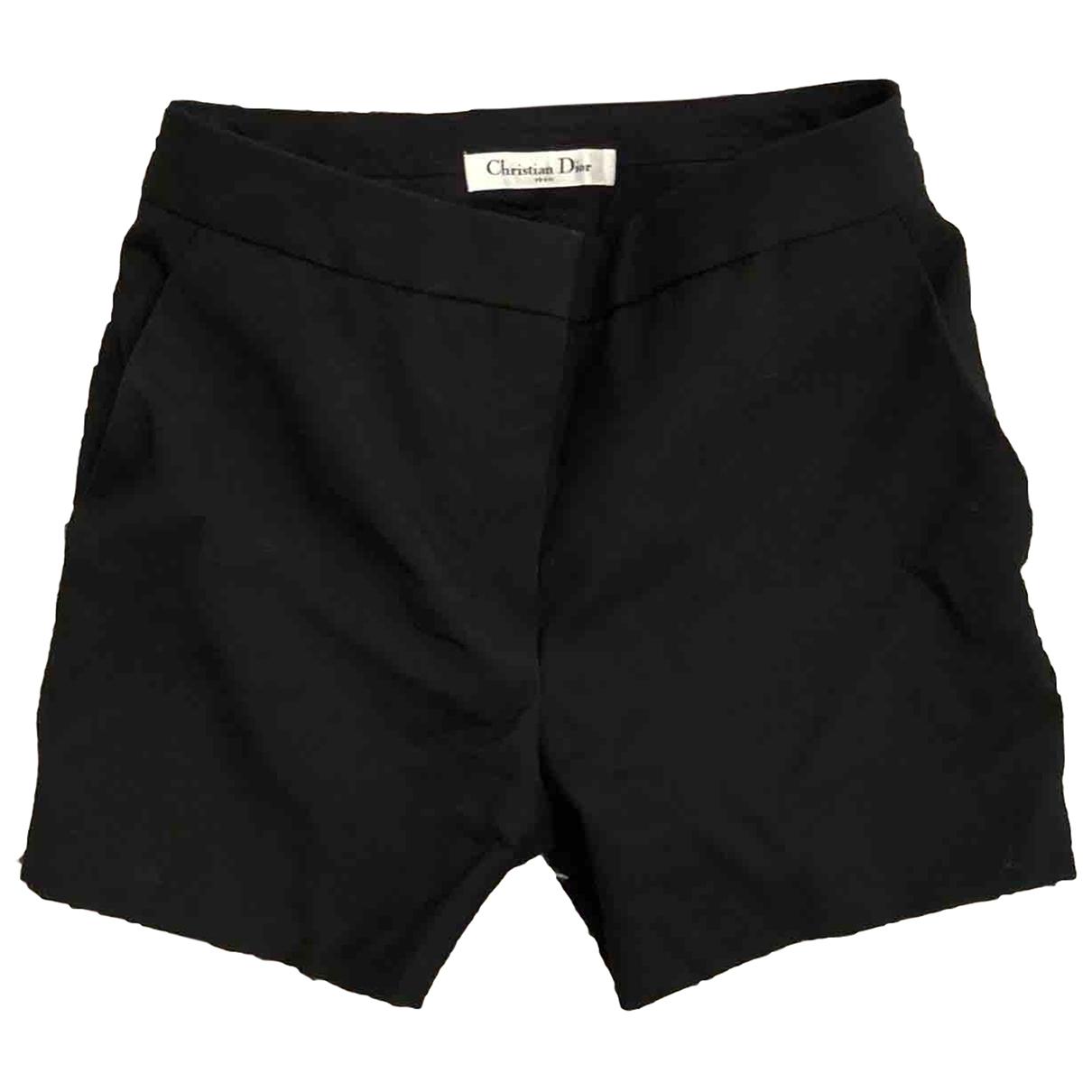 Dior \N Black Wool Shorts for Women 34 FR