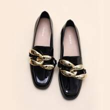 Chain Decor Loafers