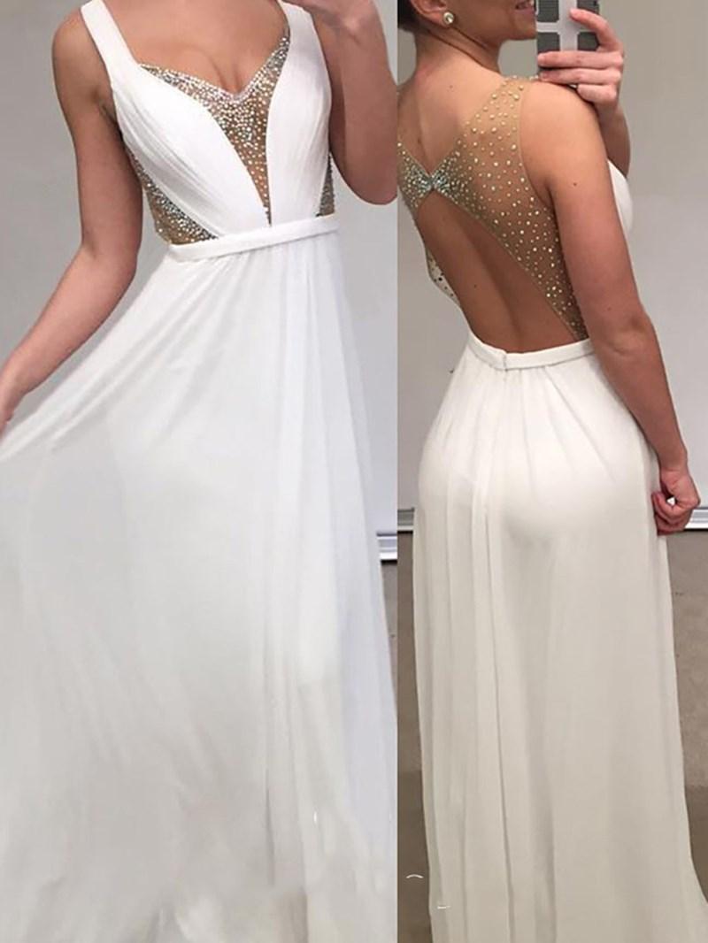 Ericdress Floor-Length Scoop Beading A-Line Formal Dress 2020
