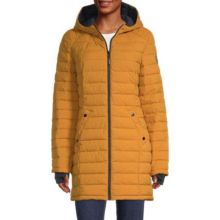 Hfx Hooded Midweight Puffer Jacket, Medium , Yellow