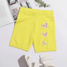 Butterfly Embroidery Knit Shorts