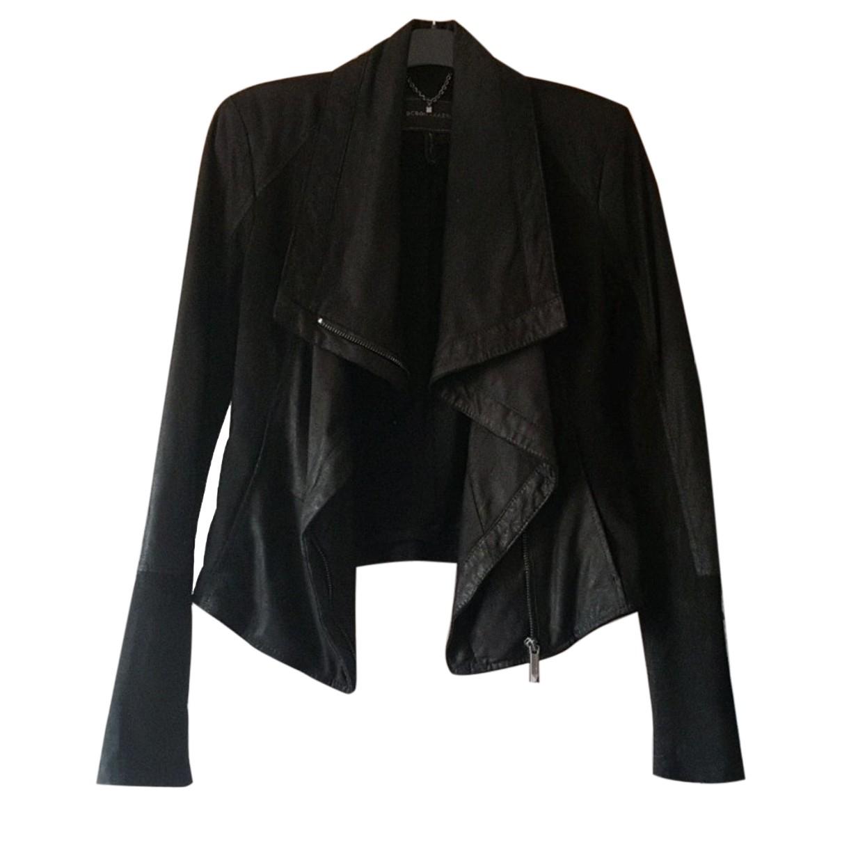 Bcbg Max Azria - Blouson   pour femme en cuir - noir