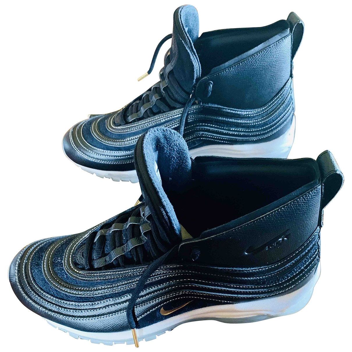 Nike By Riccardo Tisci - Baskets   pour homme en cuir - noir