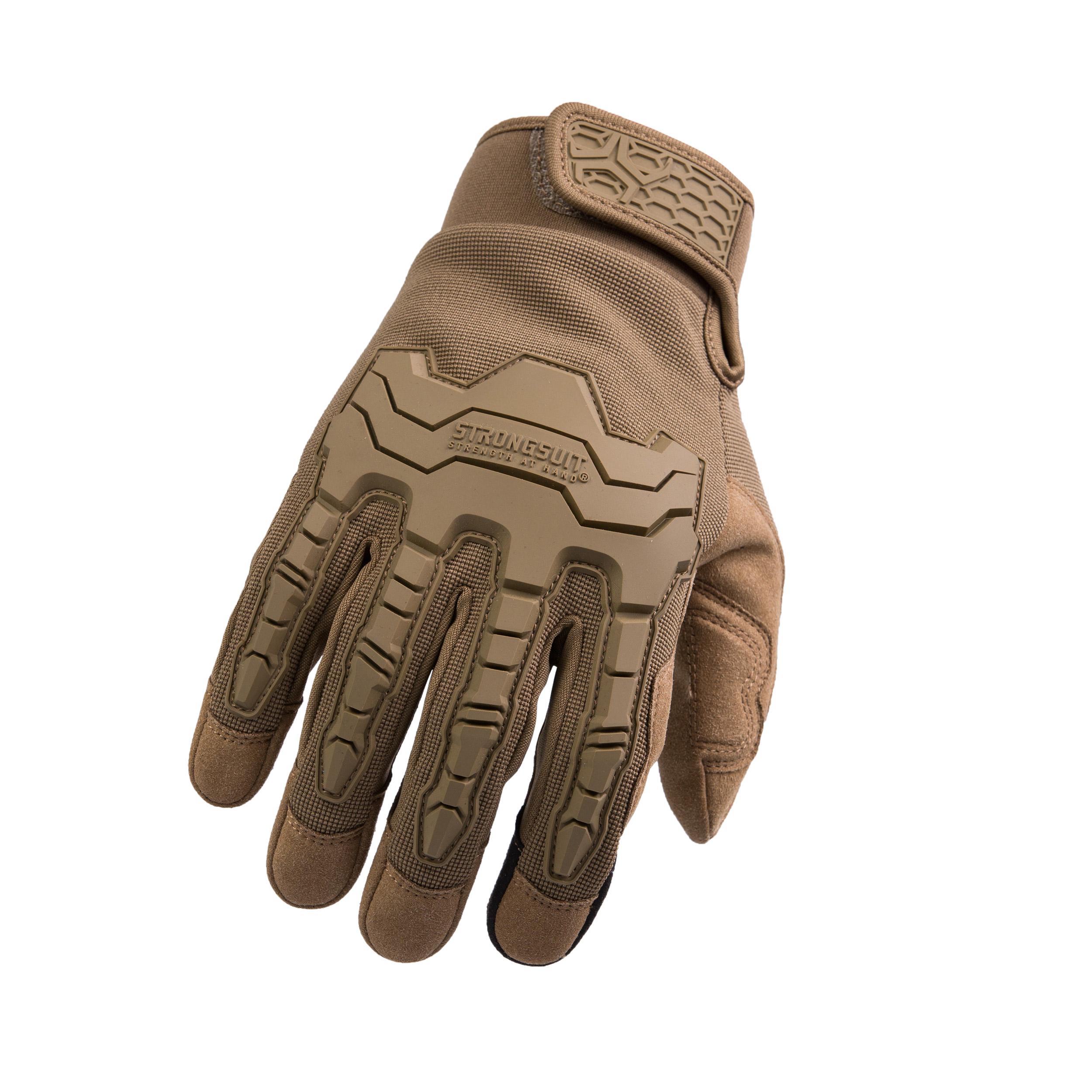 Brawny Coyote Gloves, Black, Medium