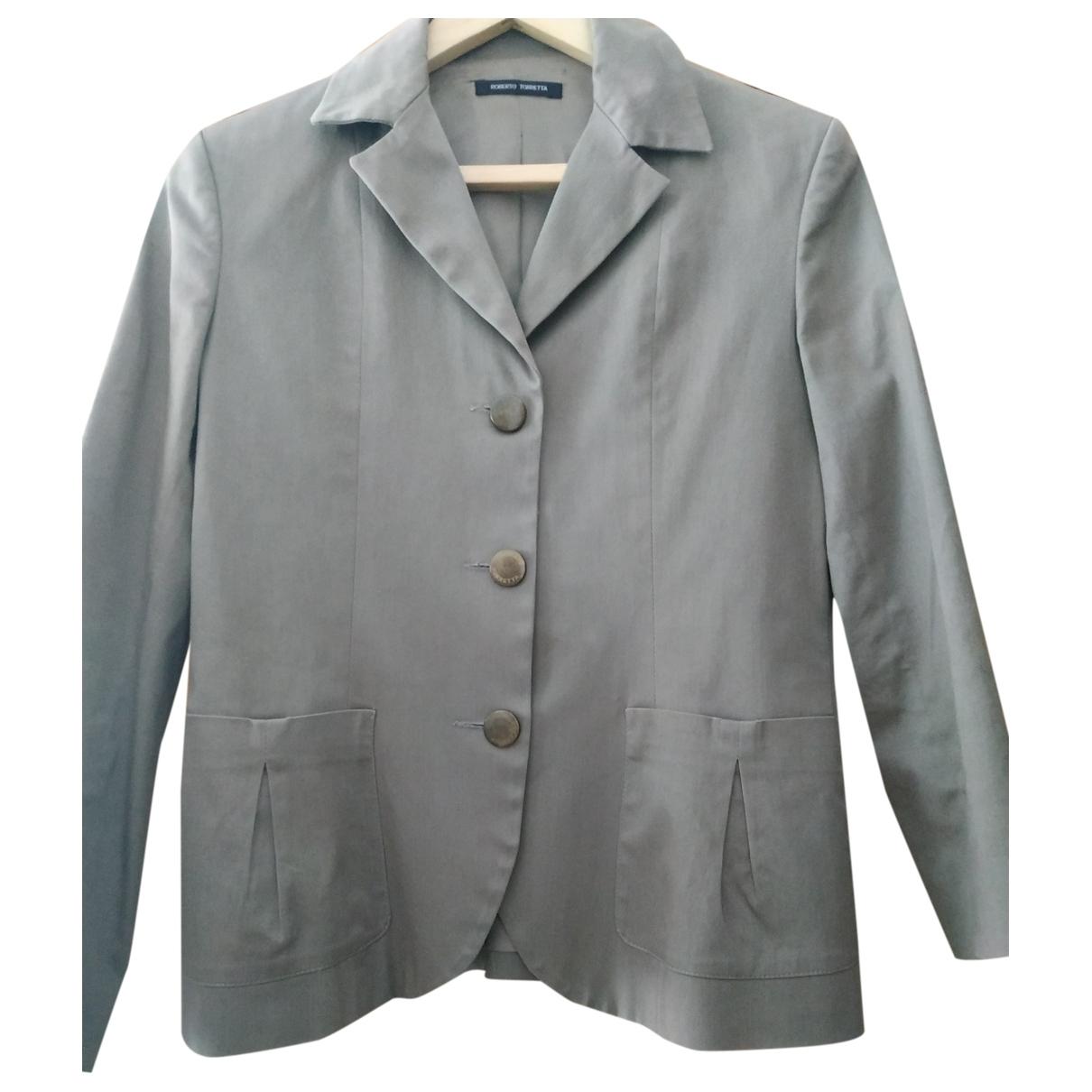Roberto Torretta \N Khaki Cotton jacket for Women 40 FR