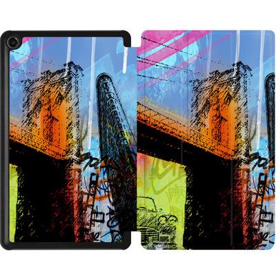 Amazon Fire 7 (2017) Tablet Smart Case - Pop Brooklyn Bridge von Mark Ashkenazi