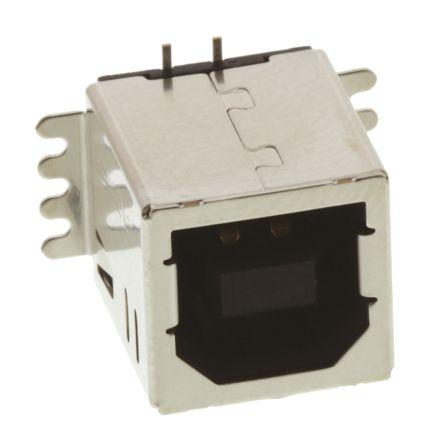 TE Connectivity USB Connector, SMT, Socket B, Solder, Straight- Single Port