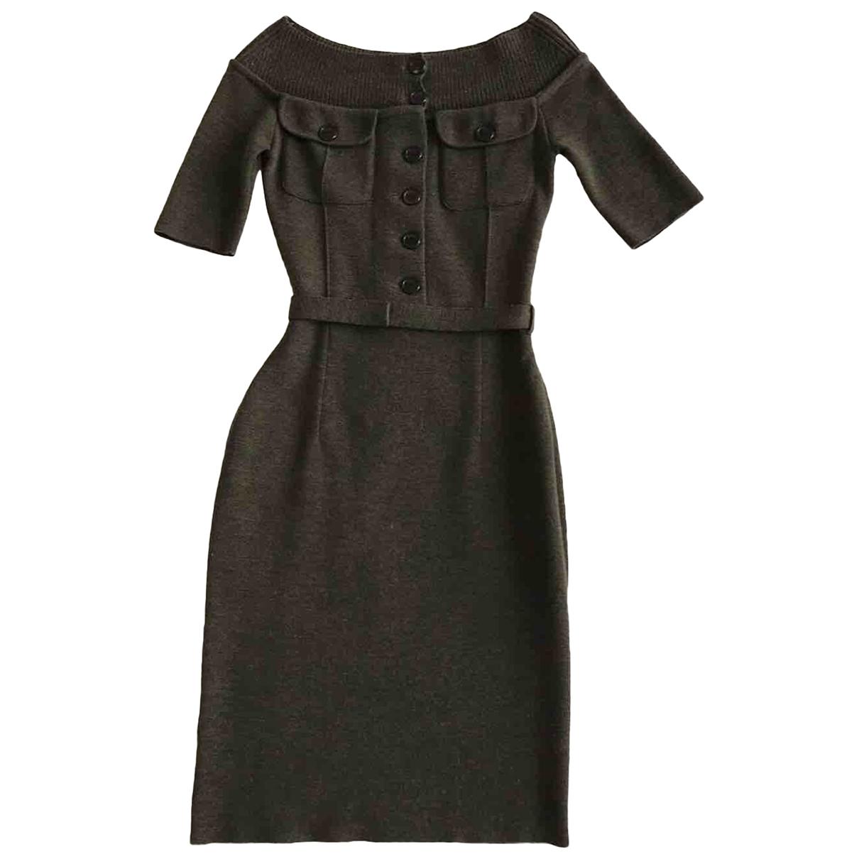 Dior \N Kleid in  Khaki Wolle