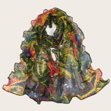 Schal mit tropischem Muster
