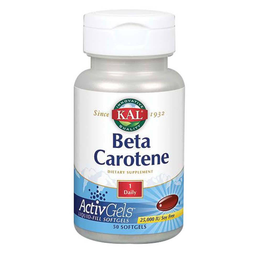 Beta Carotene 100 Softgels by Kal